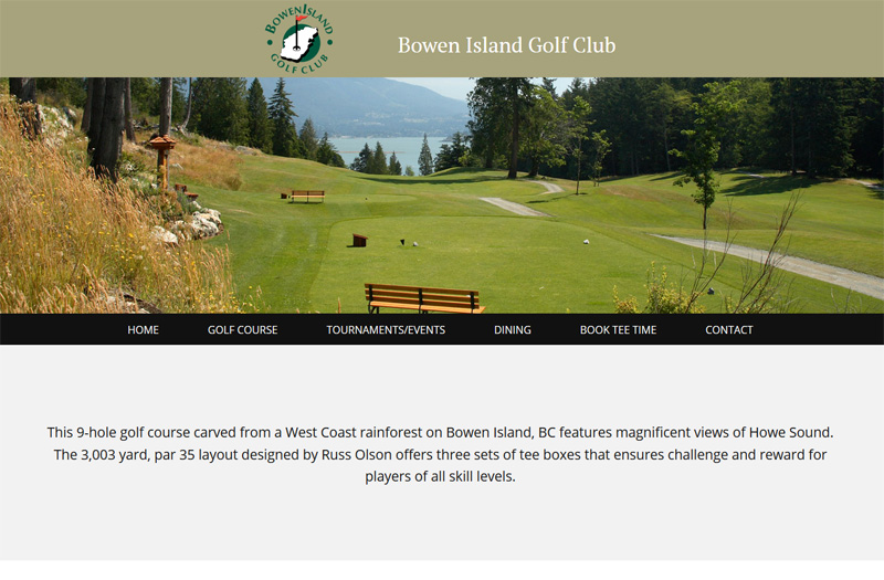 Bowen Island Golf Club homepage